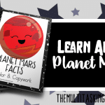 Planet Mars Facts Color and Copywork