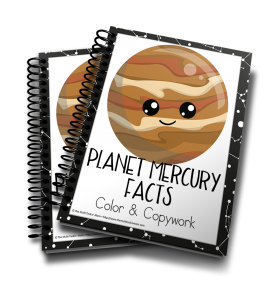 Learn about Planet Mercury while practicing handwriting and having a ton of FUN!