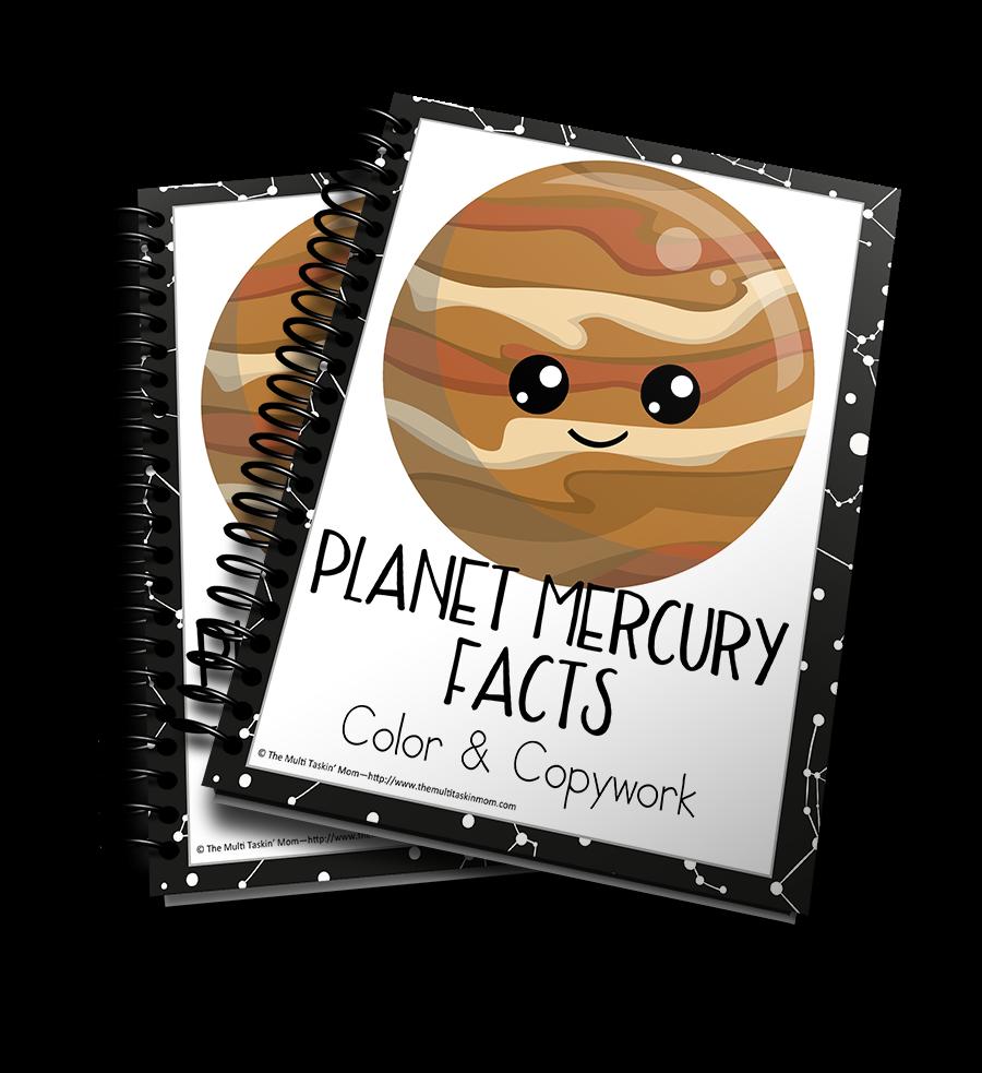 Planet Mercury Facts Color & Copywork
