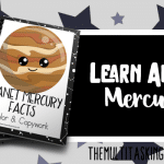 Planet Mercury Facts Color and Copywork