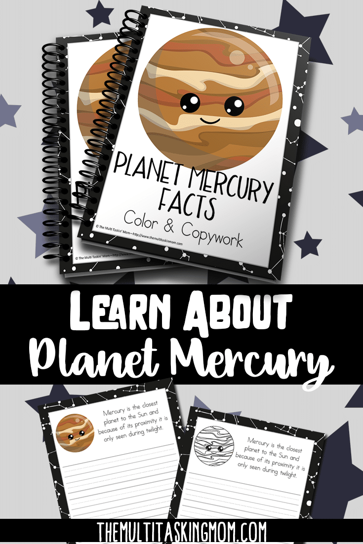 Learning about Planet Mercury is so much fun thanks to this easy to use Color and Copywork pack. Just print it out and hand it to your children. They will be learning about the solar system in no time!