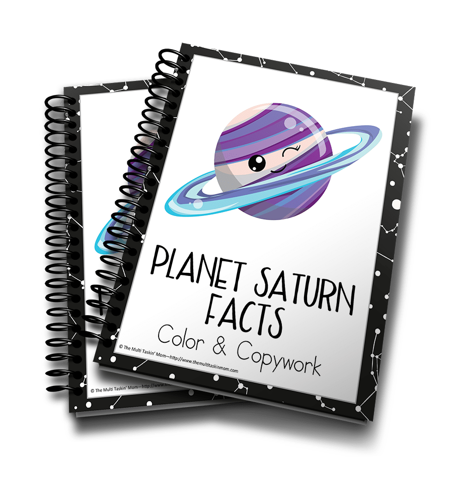 Planet Saturn Facts Color and Copywork