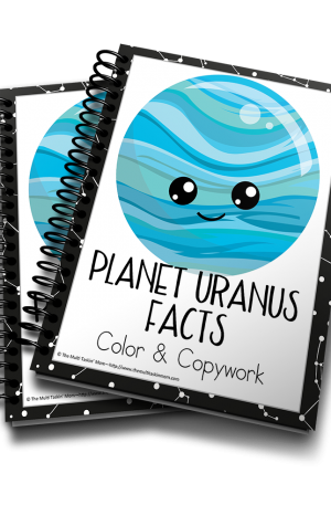 Planet Uranus Facts Color & Copywork