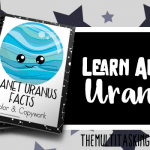 Planet Uranus Facts Color and Copywork