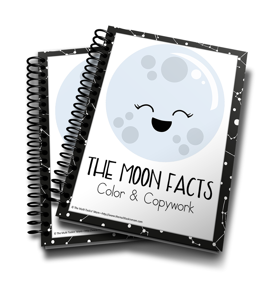 The Moon Facts Color & Copywork