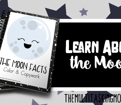The Moon Facts Color and Copywork