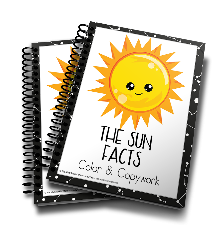 The Sun Facts Color & Copywork