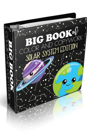 Big Book of Color and Copywork Solar System Edition
