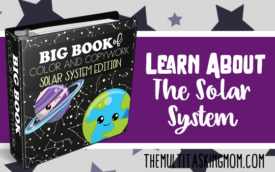 The Big Book of Color and Copywork Solar System Edition