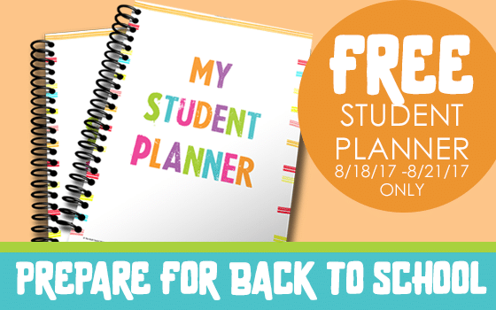 Free Student Planner for Limited Time