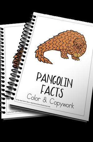 Pangolin Facts Color and Copywork