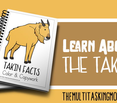 The Takin Facts Color and Copywork