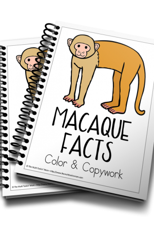 Macaque Color and Copywork