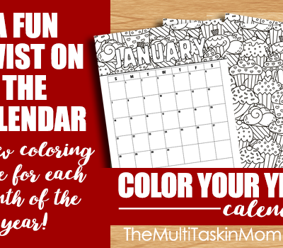 Color Your Year 2018 Calendar