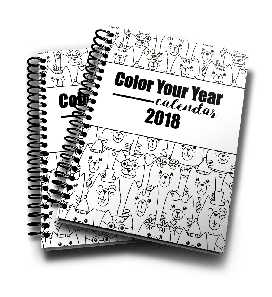 Color Your Year Cal 2018 3d