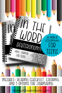 In The Word Deuteronomy A Bible Journal for Teens
