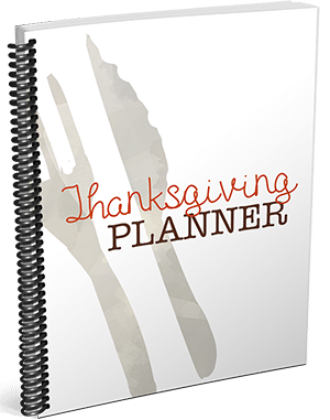 Thanksgiving Planner Option 3 3D Sidebar
