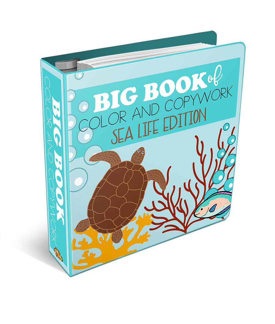 Big Book of Color and Copywork Sea Life Edition