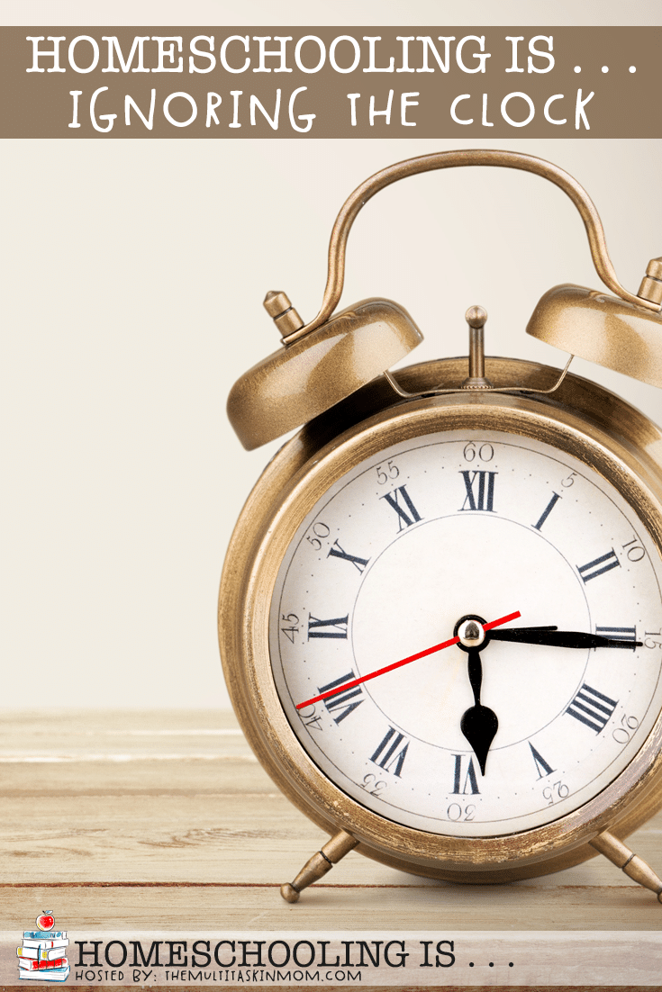 Ignoring the clock is one of the best parts of homeschooling.That doesn't mean that homeschoolers don't have a plan. It means that there is freedom.  #homeschool #homeschooling #schedule #planning