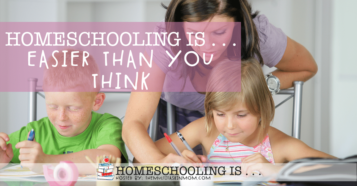 It's common to feel like #homeschooling might be too hard, or like you're not qualified. You are! Find out why homeschooling is easier than you think. #homeschool #homeschoolmom #homeschooling
