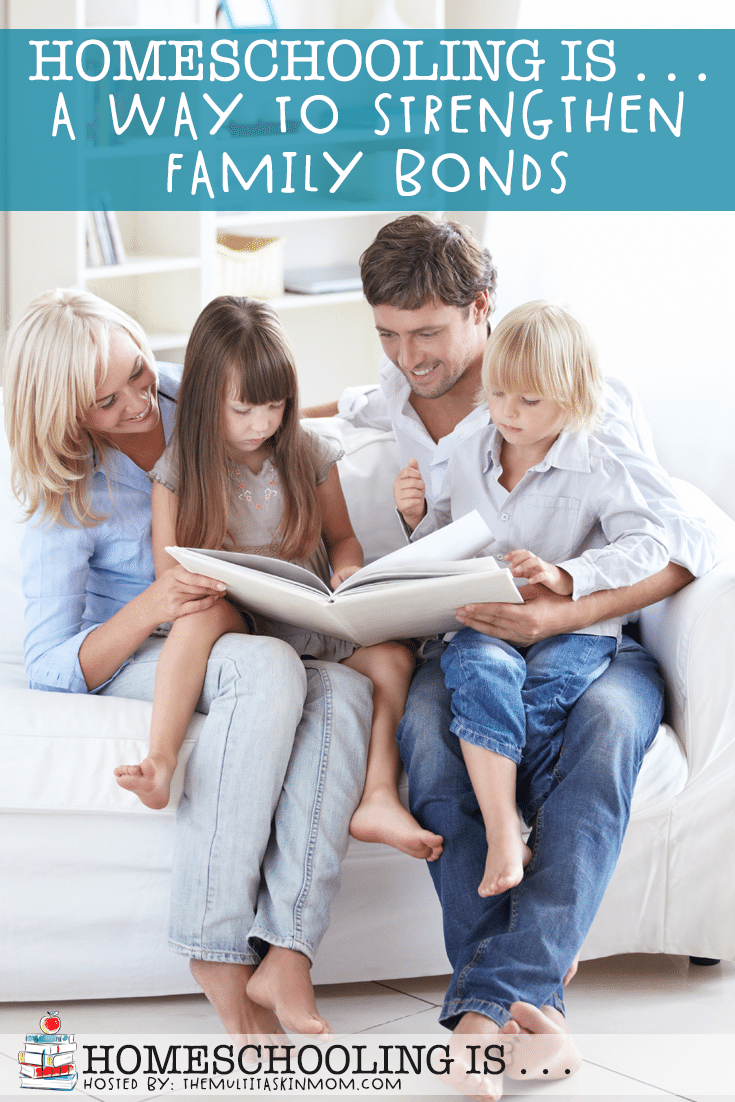 Many families today deal with crazy schedules and separate lives. One benefit of homeschooling is that it is a great way to strengthen family bonds! #homeschool #homeschooling #parenting #family