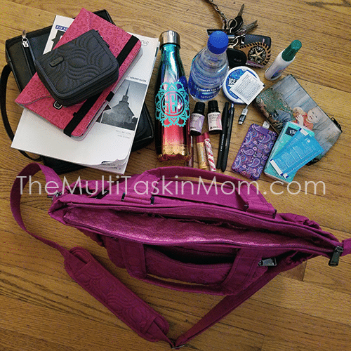 Organization On-the-Go is easy with my Lug Charter Tote. Plus look at that stunning color.