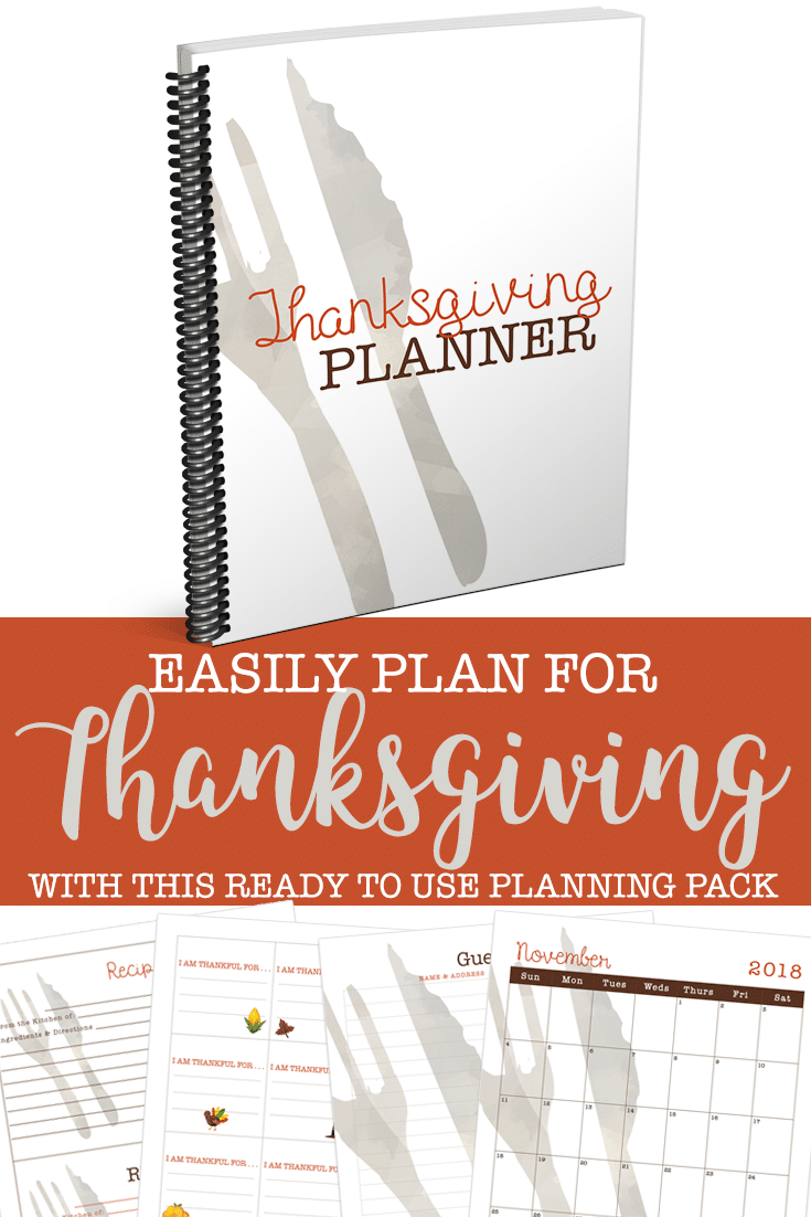 Easily plan for Thanksgiving with this ready to use Thanksgiving Planner.Your holiday season has never been more organized.