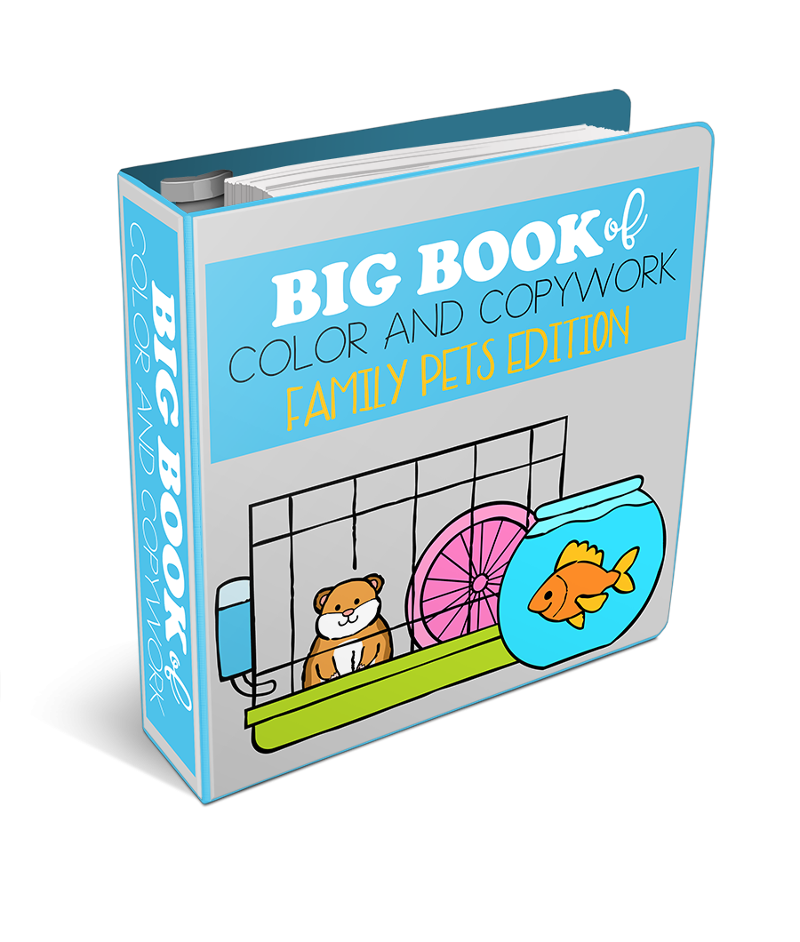 Big Book of Color and Copywork Family Pets Edition