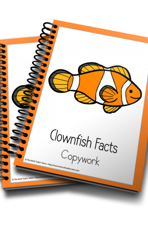 Clownfish Color and Copywork