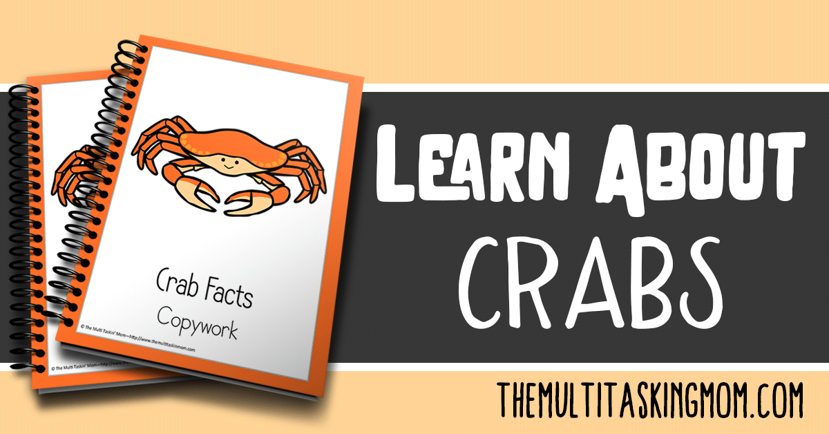 Crab Facts Color and Copywork