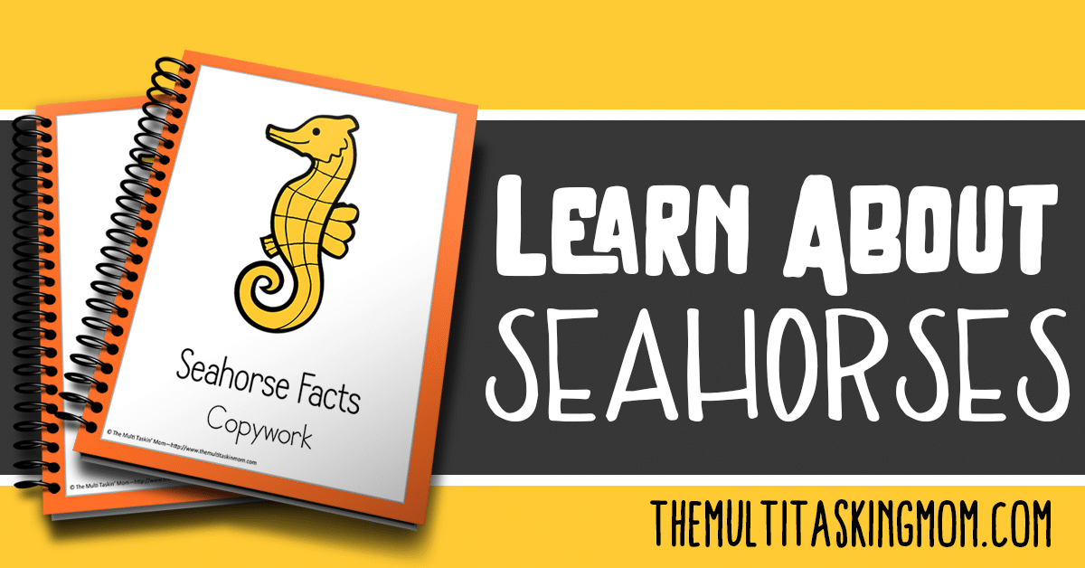 Seahorse Facts Color and Copywork