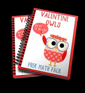 Get your Valentine Owls Prek Math Pack now