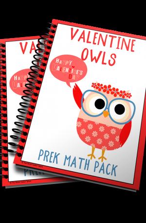 Valentine Owl PreK Math Pack