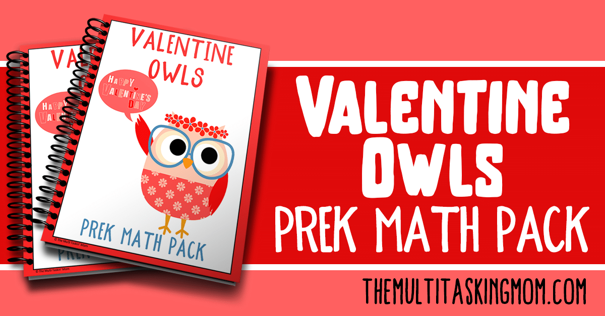 Valentine Owls PreK Math Pack