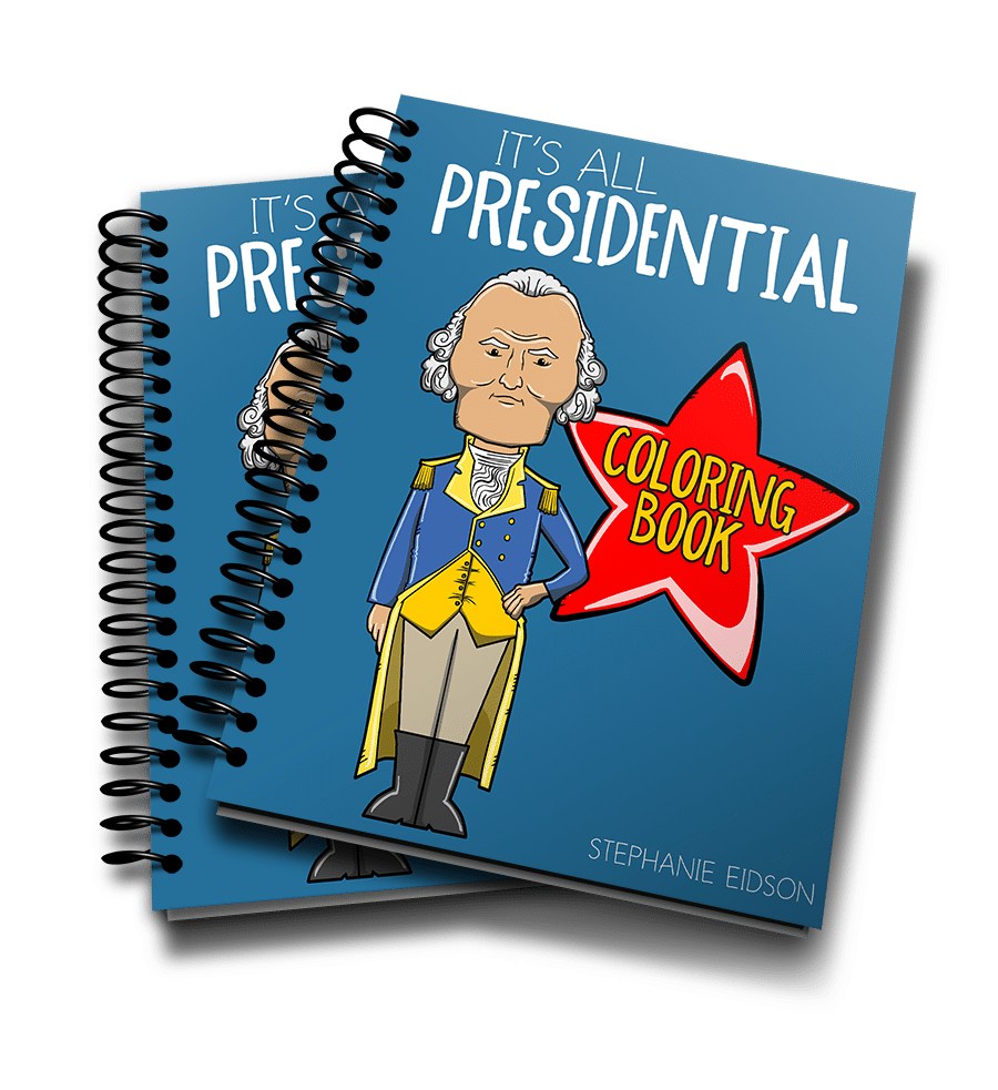 Its All Presidential Coloring Book 3D Render