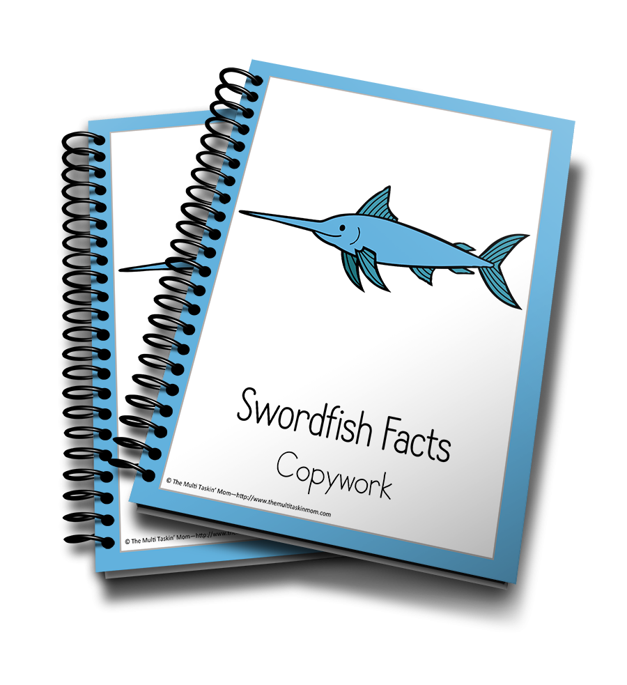 Swordfish Color and Copywork