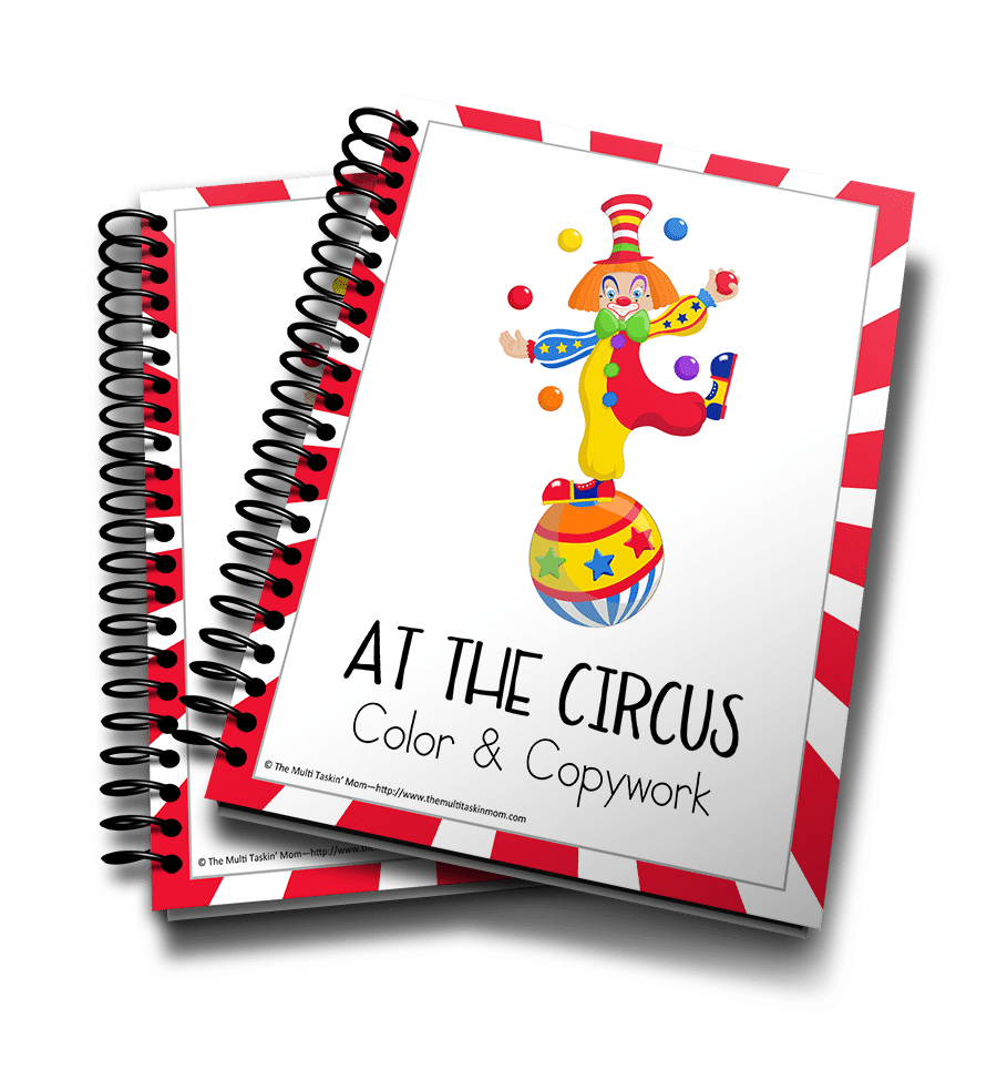 At the Circus Color and Copywork 3D