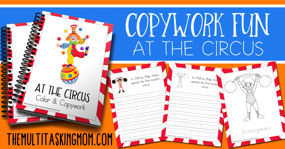 Copywork Fun at the Circus is Available Now
