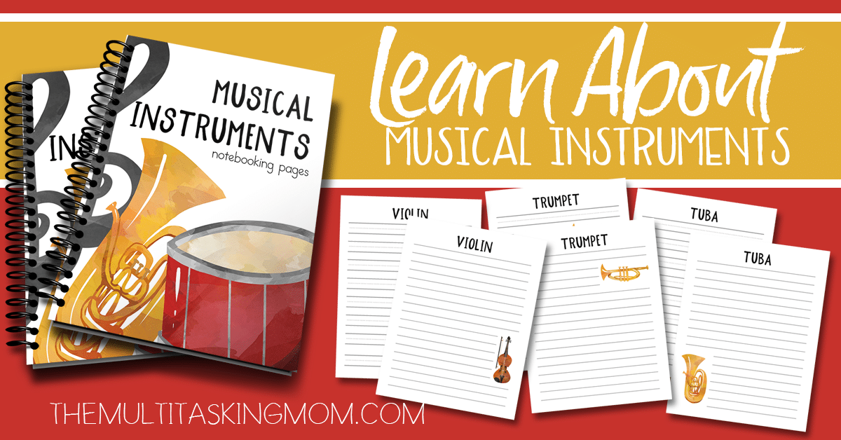 Musical Instruments Notebooking Pages