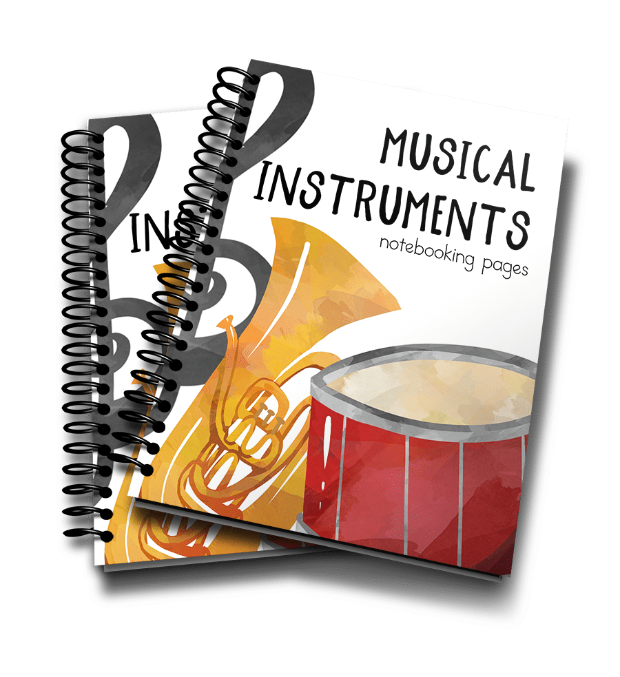 Musical Instruments Notebooking Pages 3D