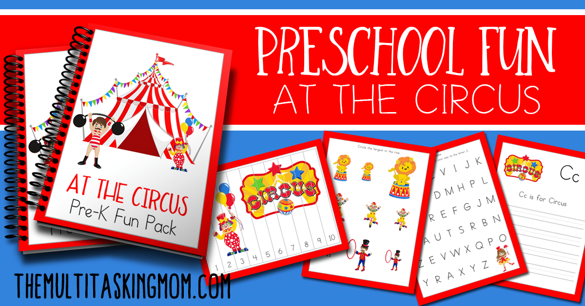 Preschool Fun At the Circus Prek Pack