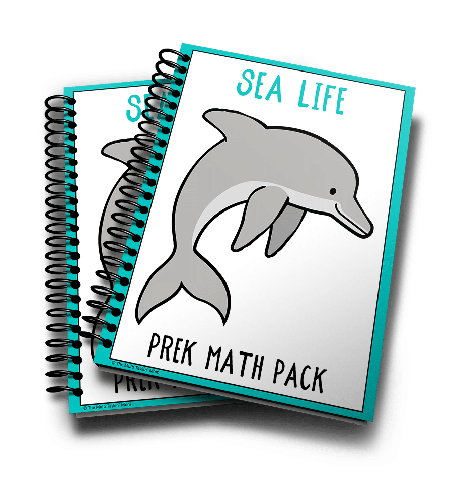 Sea Life PreK Math Pack 3D