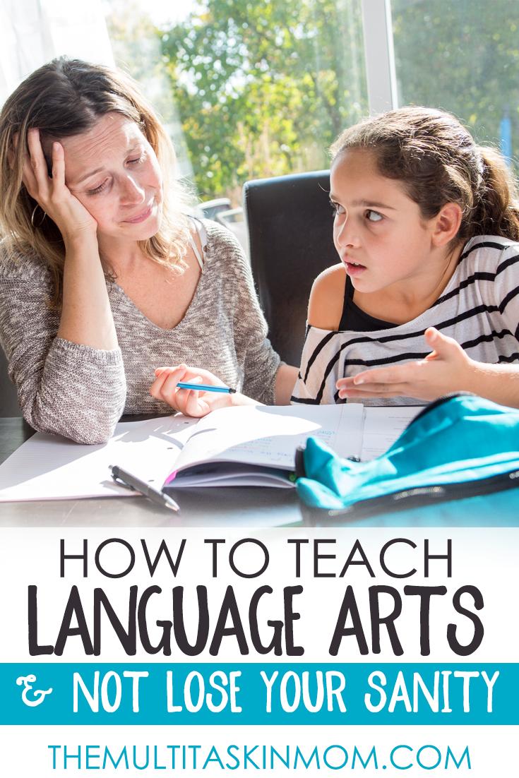 homeschool mom teaching language arts
