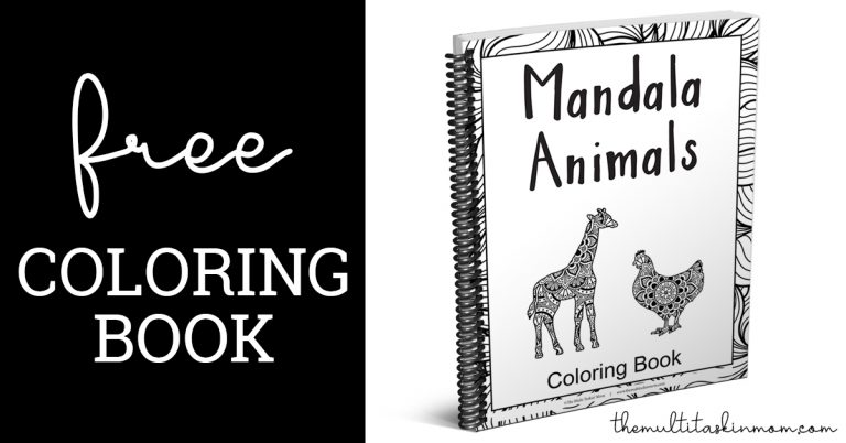 Free Mandala Animals Coloring Book - The Multi Taskin' Mom