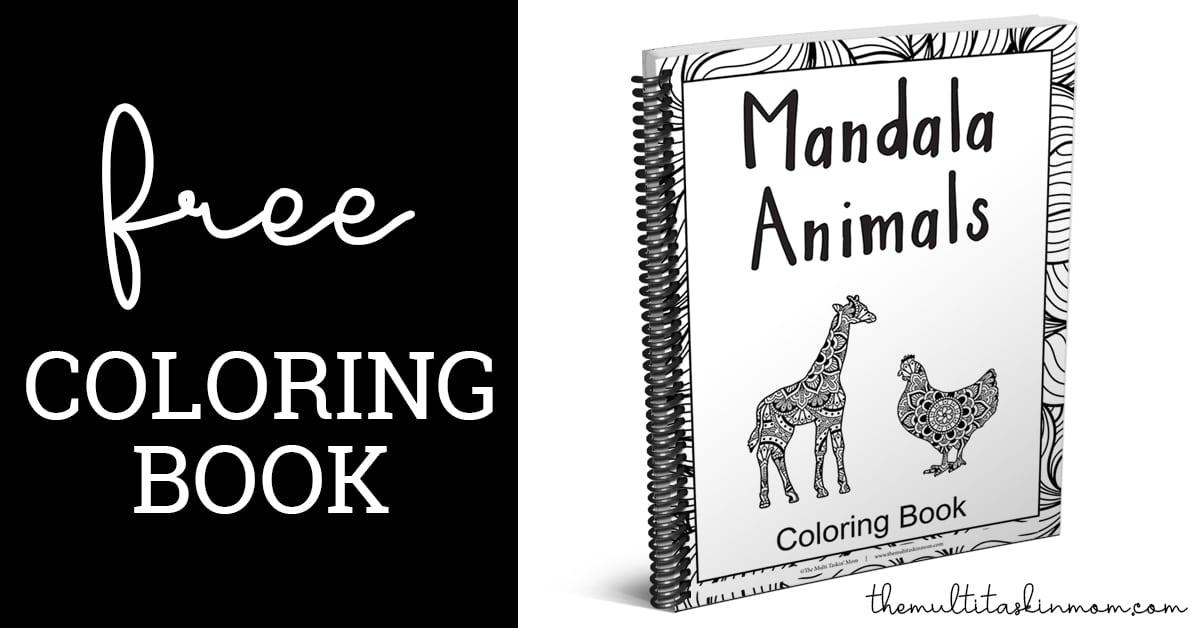 Free Mandala Animals Coloring Book - The Multi Taskin' Mom